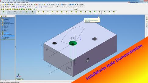 Name:  SolidWorks Hole Demo.jpg Views: 47 Size:  18.9 KB